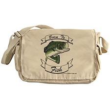 born to fish bass Messenger Bag