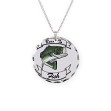 born to fish bass Necklace