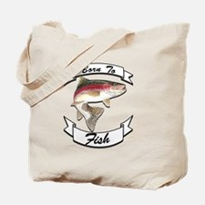 born to fish trout dark Tote Bag