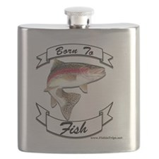 born to fish trout Flask