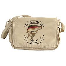 born to fish trout Messenger Bag
