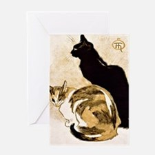 Steinlen Cats Greeting Card