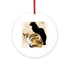 Steinlen Cats Round Ornament