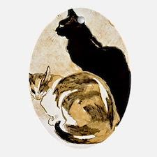 Steinlen Cats Oval Ornament