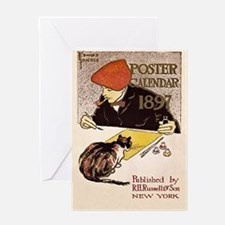 Edward Penfield poster 1897 Greeting Card