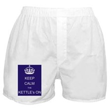 keep_calm_the_kettles_on Boxer Shorts
