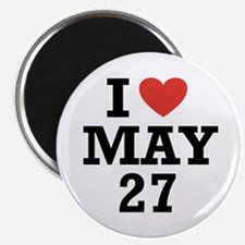 """I Heart May 27 2.25"""" Magnet (10 pack)"""