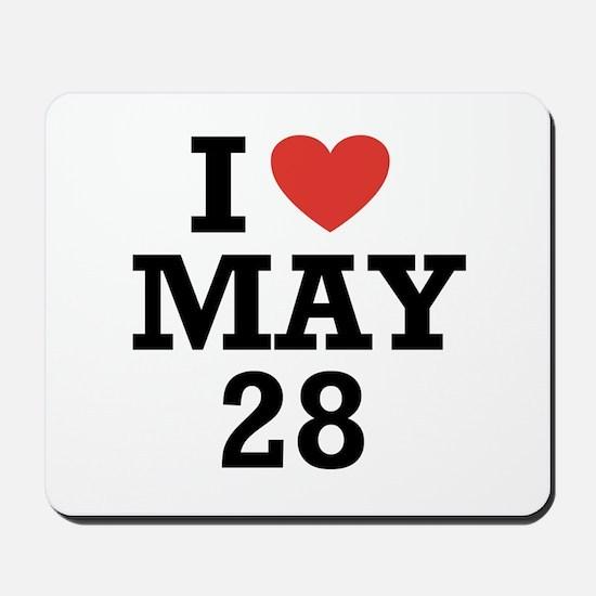I Heart May 28 Mousepad