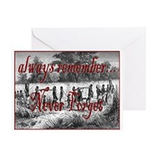 nf line of slaves Greeting Card