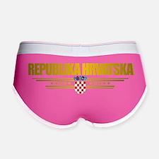 Croatia (Flag 10) pocket Women's Boy Brief