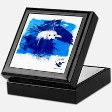 CWC_PamelaSeal_WhtTshirt_10x10 Keepsake Box