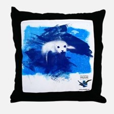 CWC_PamelaSeal_WhtTshirt_10x10 Throw Pillow