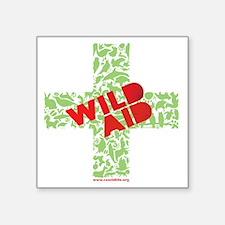 """CWC_WildAid_BlkTshirt_10x10 Square Sticker 3"""" x 3"""""""