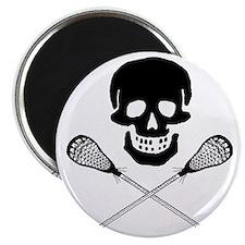 Skull lacrosse Magnet