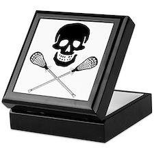 Skull lacrosse Keepsake Box
