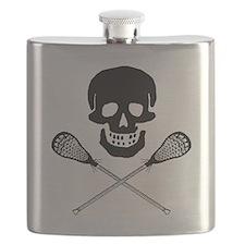 Skull lacrosse Flask
