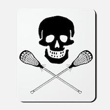 Skull lacrosse Mousepad
