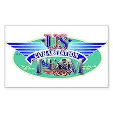 Cohabitation Team Rectangle Decal