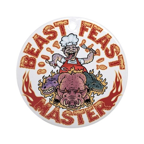 beast-feast2-T Round Ornament