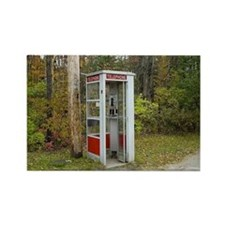 Phone booth Rectangle Magnet