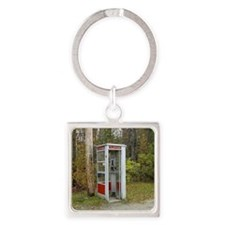 Phone booth Square Keychain