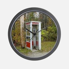 Phone booth Wall Clock