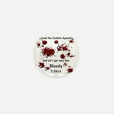 zombie apocalypse Mini Button