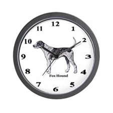 Fox Hound Wall Clock