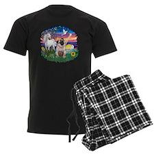 Magical Night - Fawn Pug 4 Pajamas