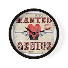 wanted_genius Wall Clock