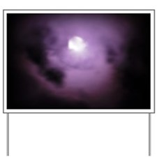 purple moon Yard Sign
