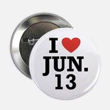 "I Heart June 13 2.25"" Button (100 pack)"