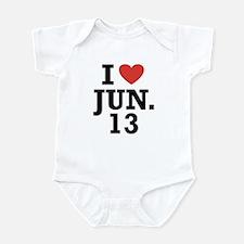 I Heart June 13 Infant Bodysuit