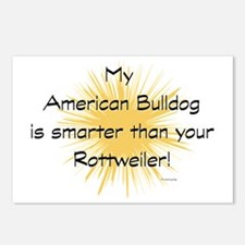 My American Bulldog is sm Postcards (Package of 8)