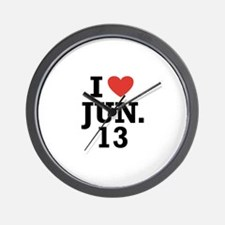 I Heart June 13 Wall Clock