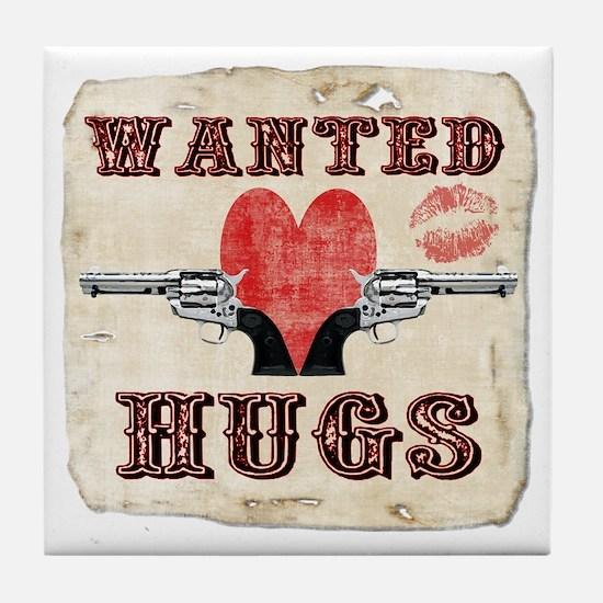 wanted_hugs Tile Coaster