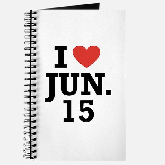 I Heart June 15 Journal