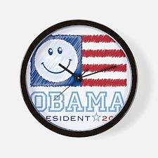 ObamaSmiles2012 Wall Clock
