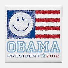ObamaSmiles2012 Tile Coaster