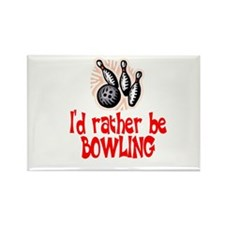 BowlingChick Rather Rectangle Magnet
