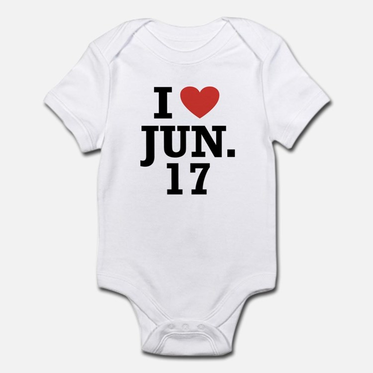 I Heart June 17 Infant Bodysuit