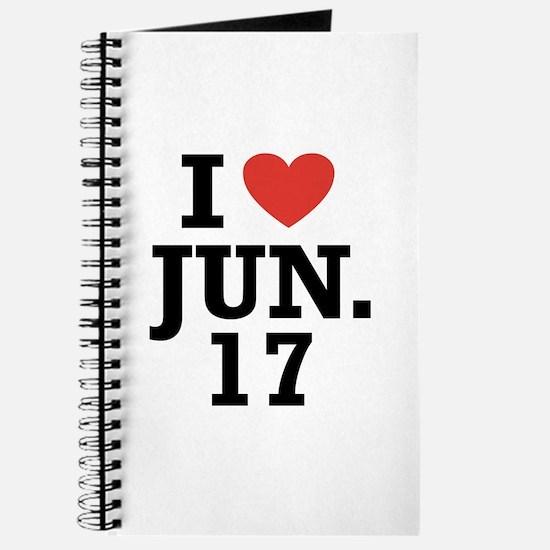 I Heart June 17 Journal
