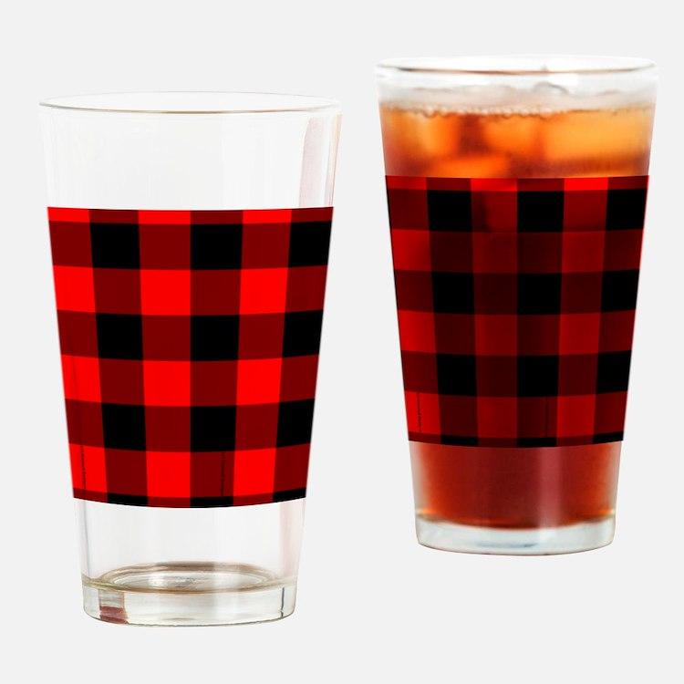 flipflopsredcheckeredpng Drinking Glass