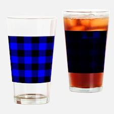 flipflopsbluecheckeredpng Drinking Glass