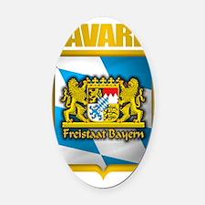 Bavarian Gold Oval Car Magnet