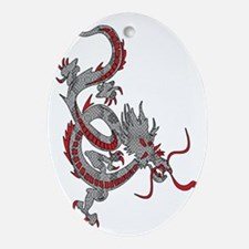 Dragon-With-Scales Oval Ornament