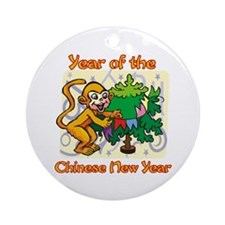 Chinese New Year Year of the Monkey Ornament (Roun