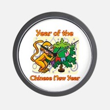 Chinese New Year Year of the Monkey Wall Clock