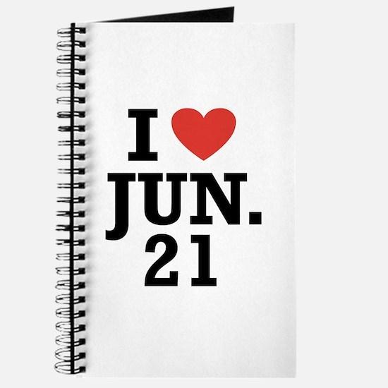 I Heart June 21 Journal