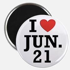"""I Heart June 21 2.25"""" Magnet (10 pack)"""
